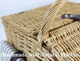 4 Person Huntsman Willow Picnic Hamper Handmade Basket with Cooler - INNO STAGE
