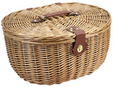 4 Person Unique Willow Picnic Basket Green - INNO STAGE