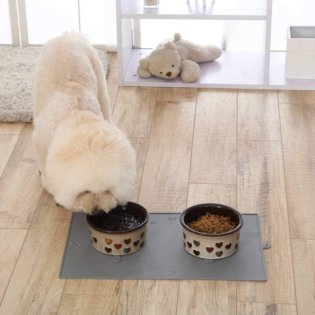 WANTRYAPET Pet Dog Feeding Mat with Nonslip Suction Cup, Waterproof Pet Dog Cat Bowl Feeder Mat - INNO STAGE