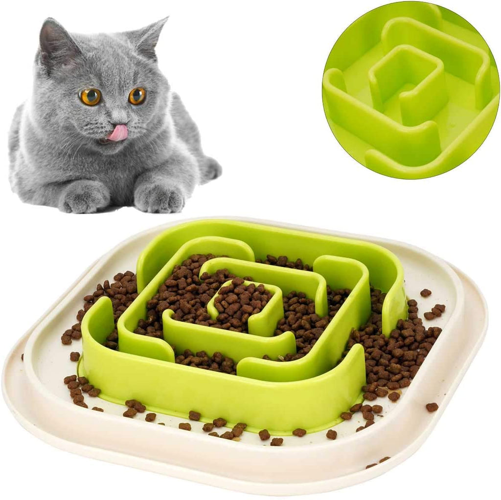 WANTRYAPET Slow Feeder Pet Bowl Dog Cat Fun Feeder, Anti-Gulping Pet Slower Food Feeding Dishes - INNO STAGE
