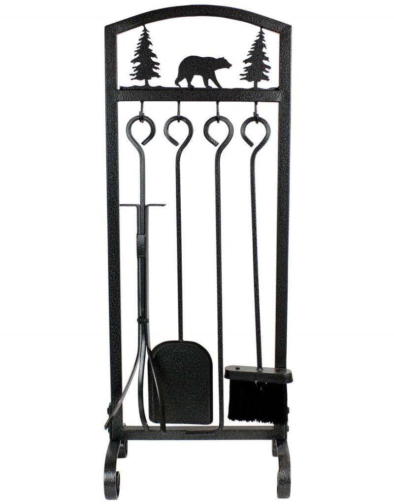 Fireplace Tools Sets 5 Pieces Strength Wrought Iron Indoor Outdoor Inno Stage