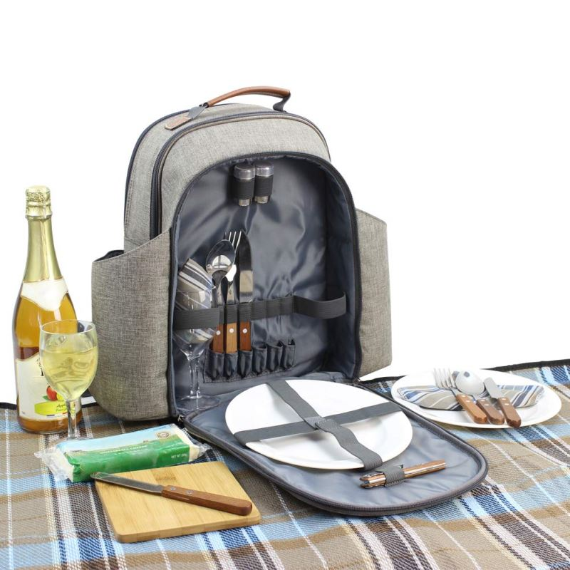 HappyPicnic Insulated Picnic Backpack for 2 Persons with Full Set of Tablewares - INNO STAGE