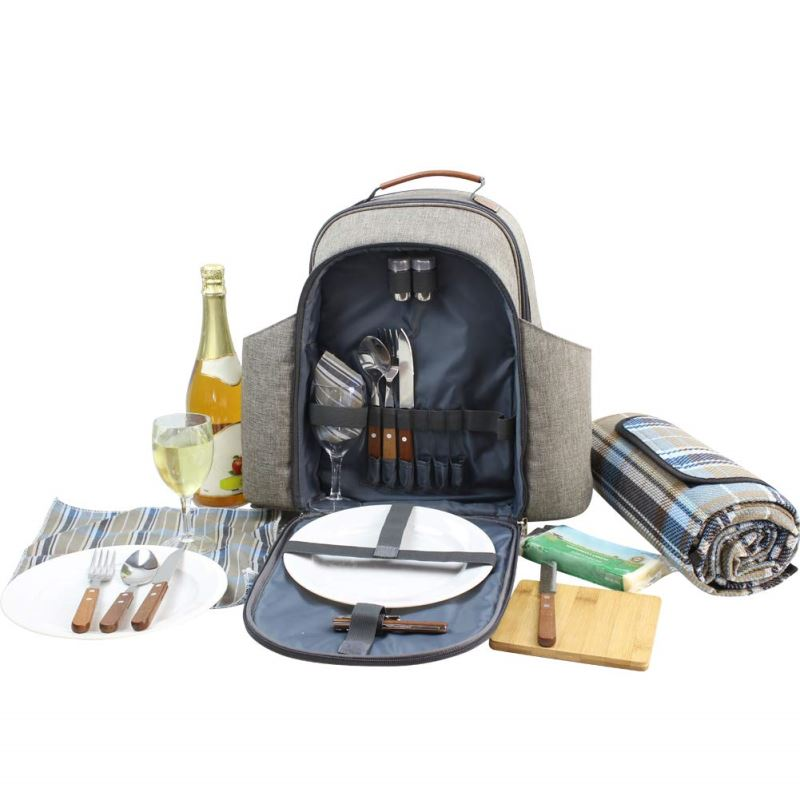Happypicnic Insulated Picnic Backpack For 2 Persons With Full Set Of T Inno Stage