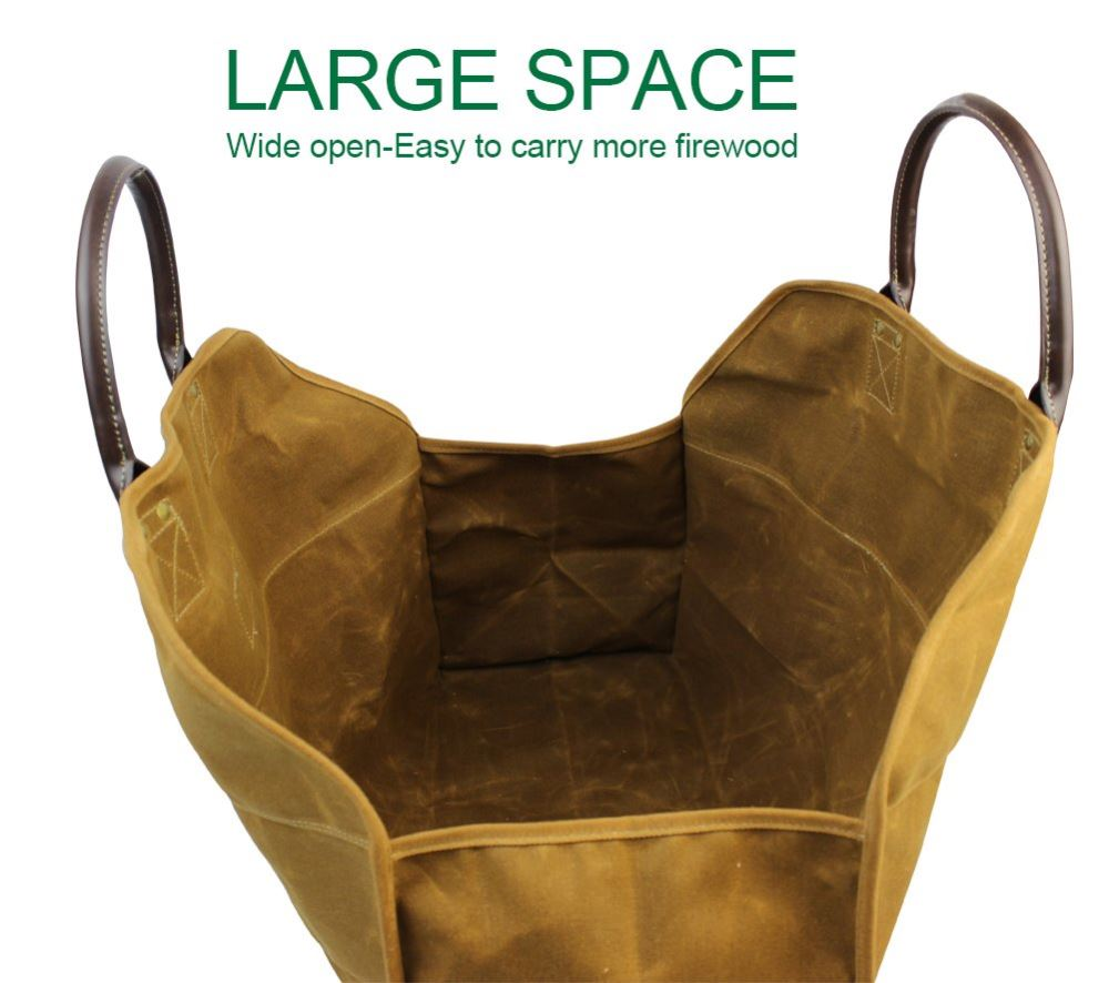 Heavy Duty Wax Canvas Log Carrier Tote Rust May Arrive After Christma Inno Stage