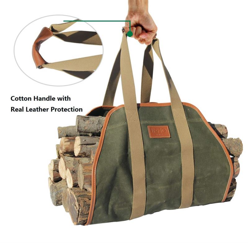 Waxed Canvas Firewood Log Carrier Green May Arrive After Christmas Inno Stage