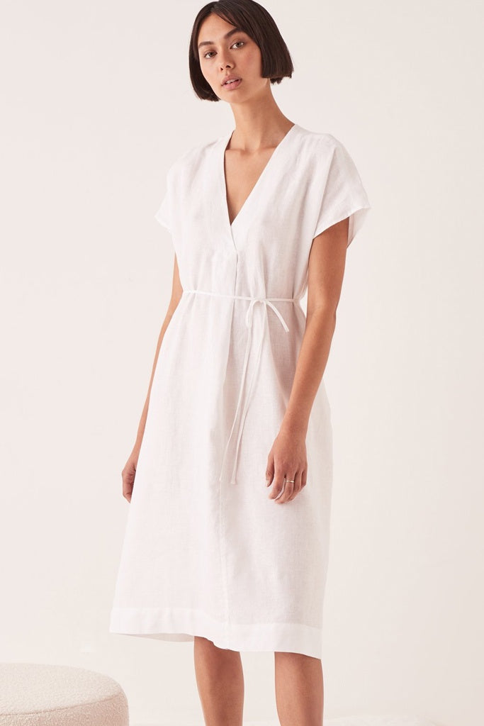 Assembly Freya Linen Dress White