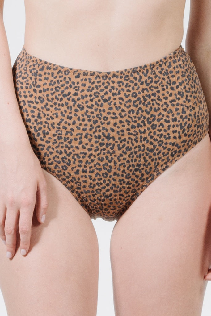 Thrills Panthera High Waist Bikini Bottoms Mustang Brown