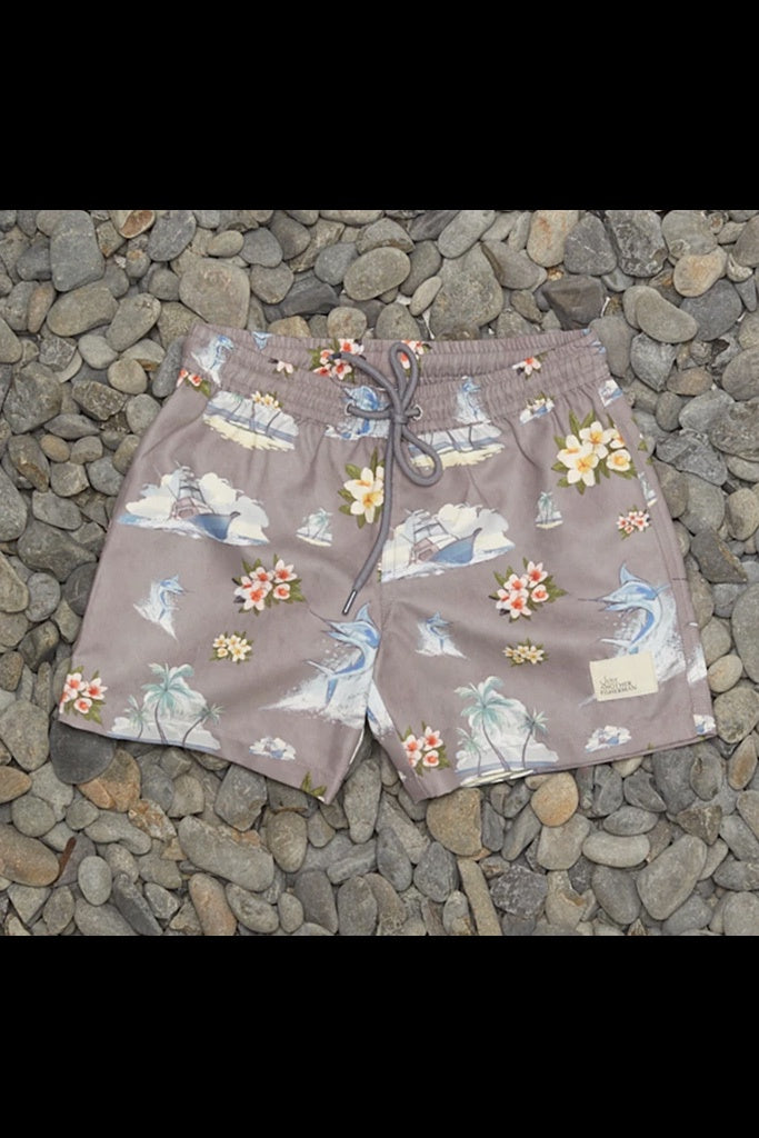 JAF Mini Floral Marlin Shorts Grey
