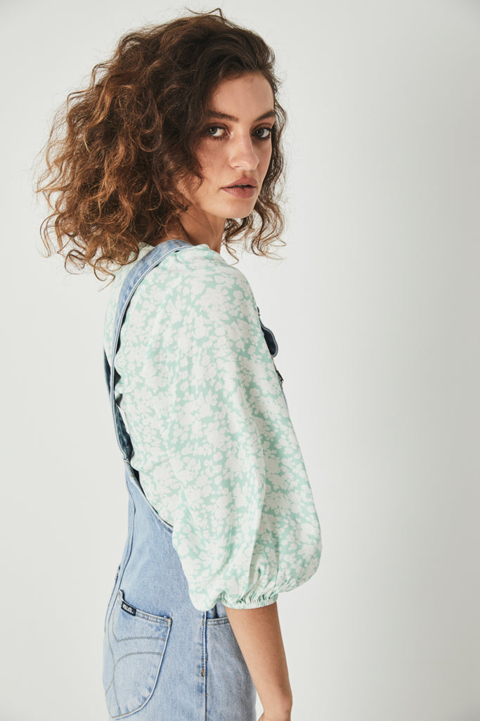 Rollas Roxanne Blossom Top Fresh Mint