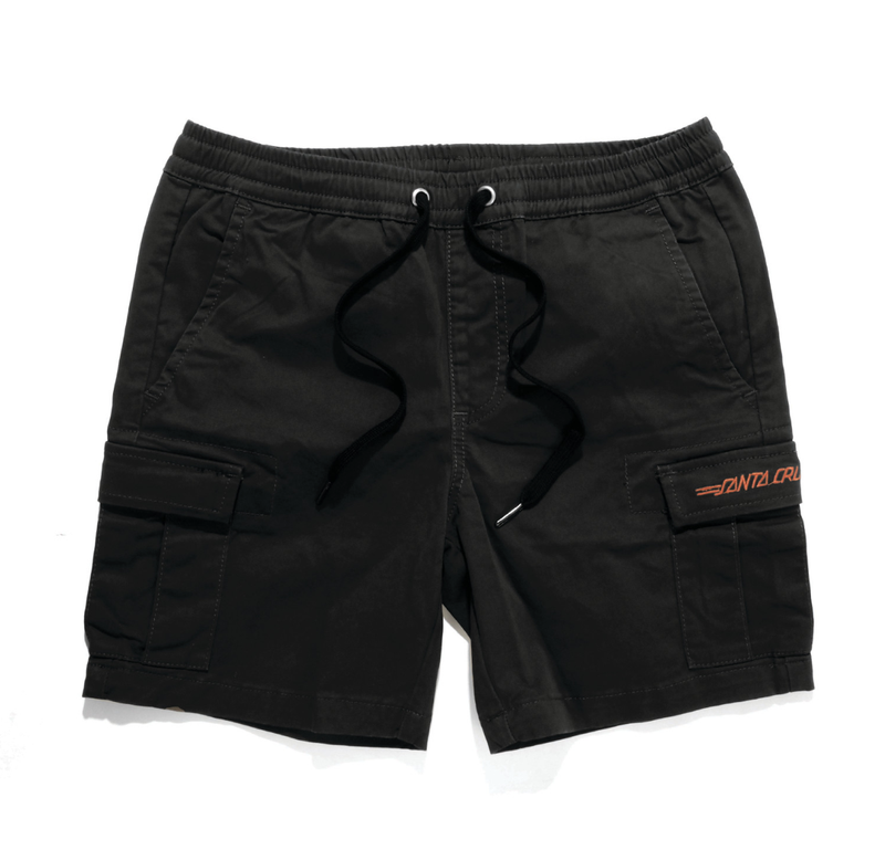 Santa Cruz Youth Classic Cali Cargo Short Black