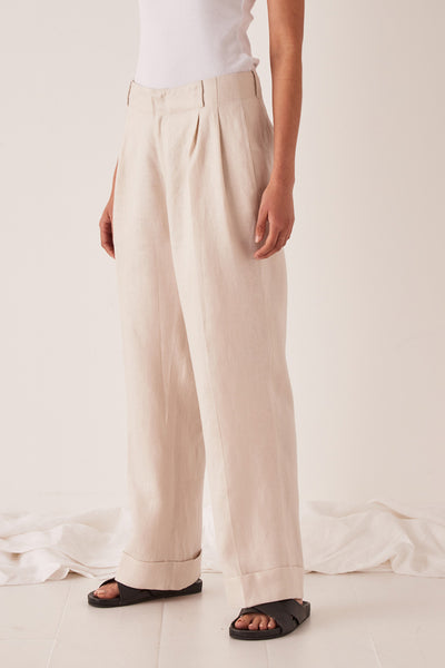 Assembly Tailored Linen Pant Ivory