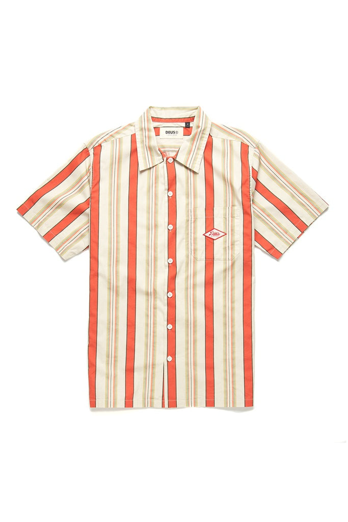 Deus Oscar Stripe Shirt Sunset Stripe