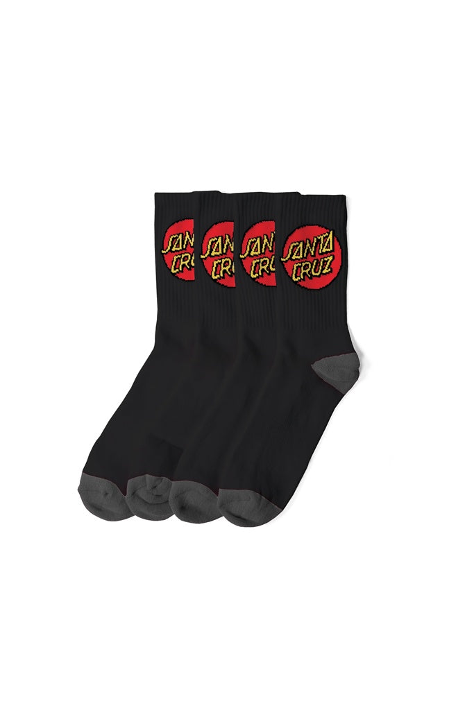 Santa Cruz Youth Cruz Sock 4 PR Black