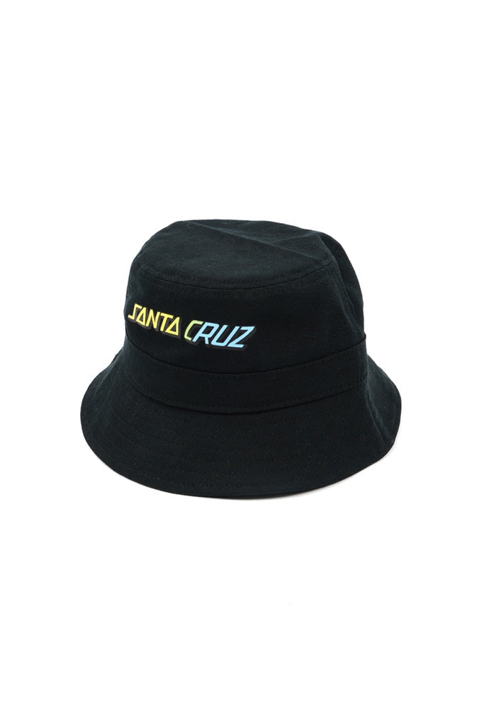 Santa Cruz Youth Strip Fade Bucket Hat Black