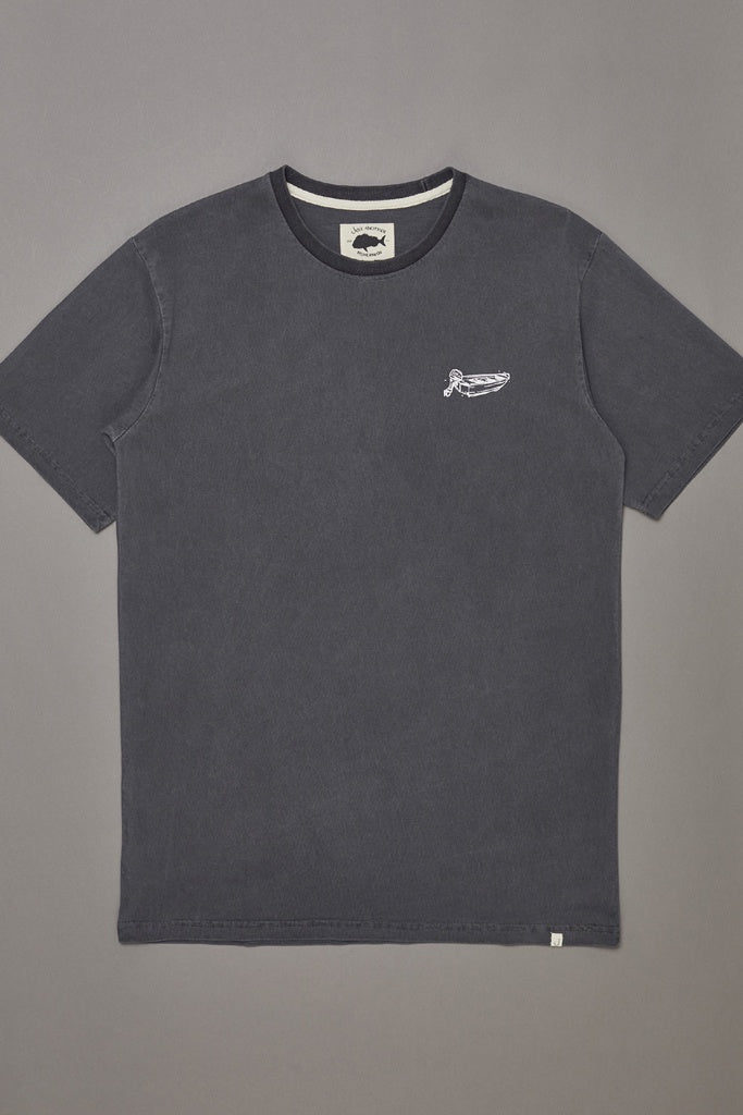 Just Another Fisherman Dinghy Tee Aged Black