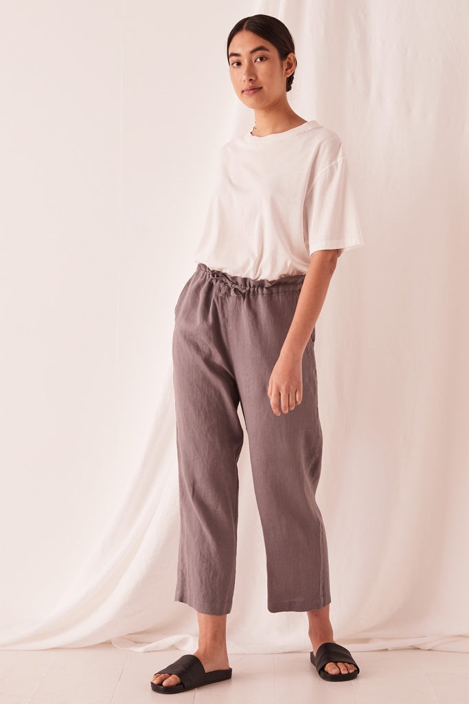 Assembly Ollie Linen Pant Sable