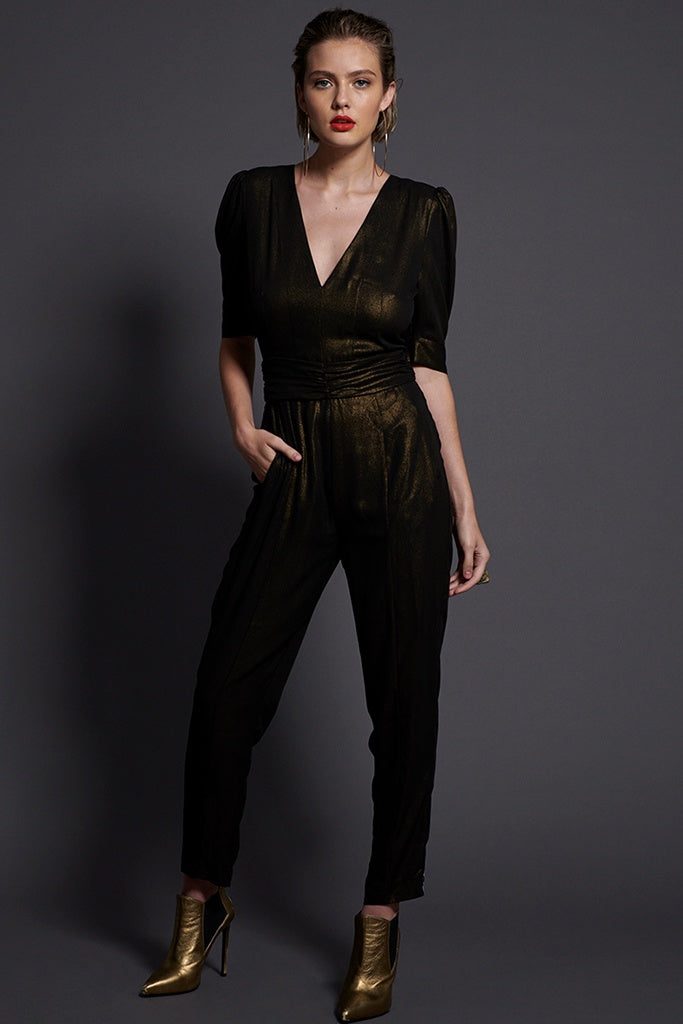 One Teaspoon Sofia Jumpsuit Bronze