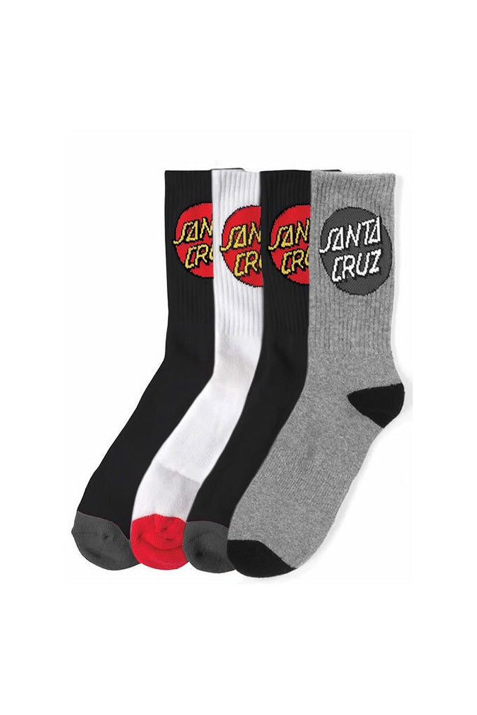 Santa Cruz Youth Cruz Sock 4 PR Asst