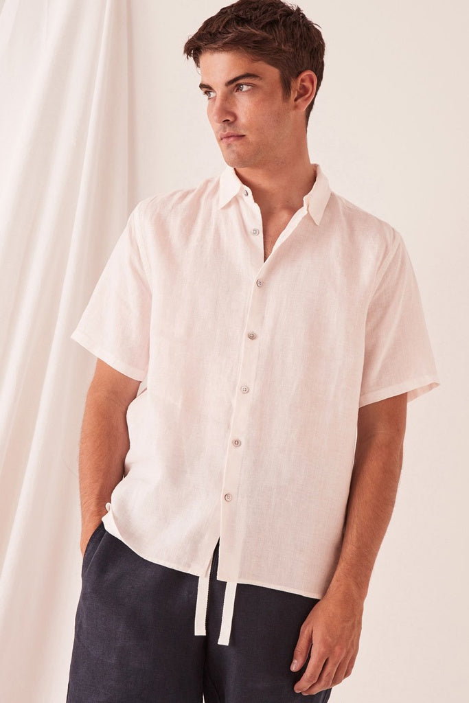 Assembly Casual Short Sleeve Shirt Pink Dew