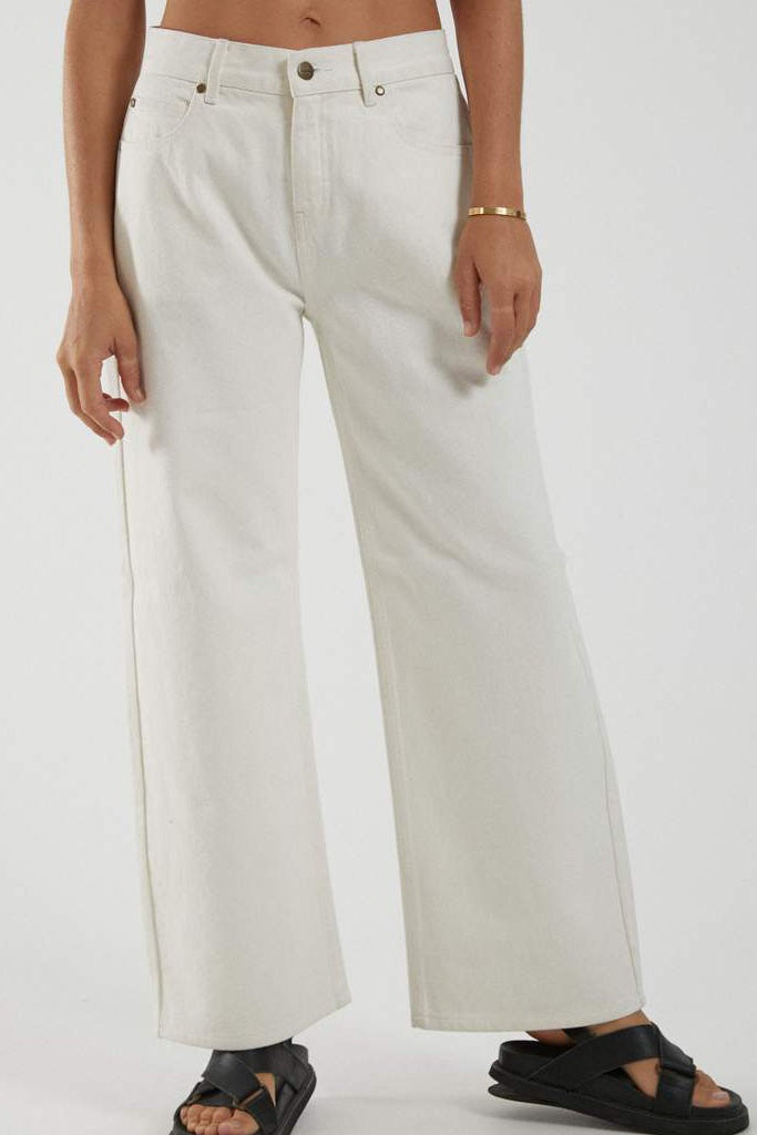 Afends Kendall Low Rise Relaxed Fit Jean Off White