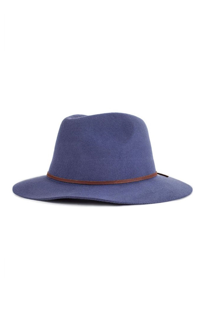 Brixton Wesley Fedora Washed Navy