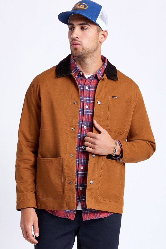 Brixton Survey X Chore Coat Washed Copper