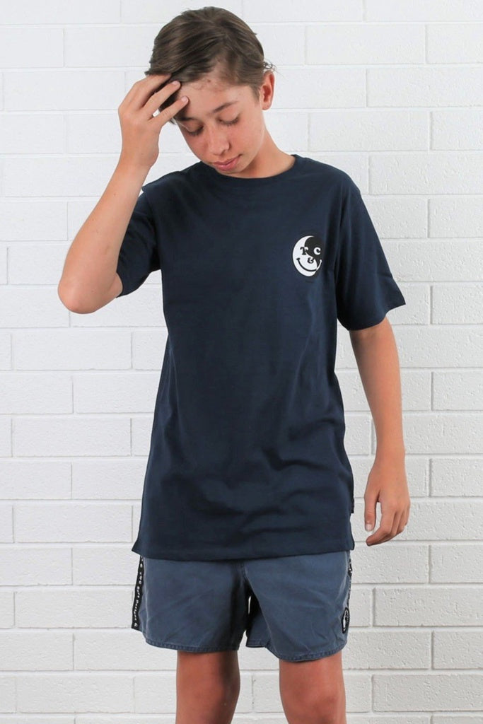 T&C Youth Smiley Tee Navy