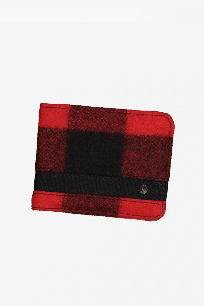 Swanndri Cuba St Wallet Red Check Black