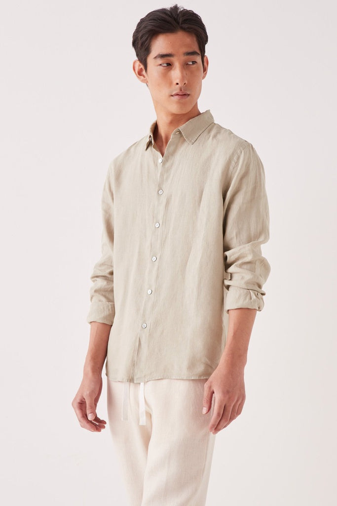 Assembly Casual L/S Shirt Washed Khaki