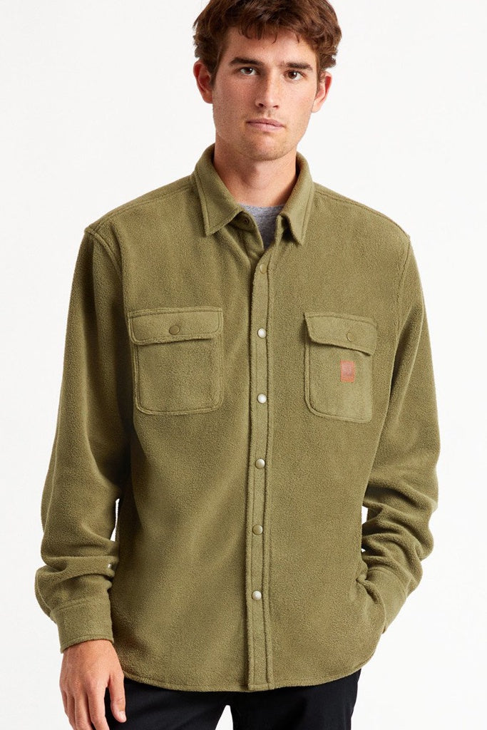 Brixton Bowery L/S Fleece Military Olive