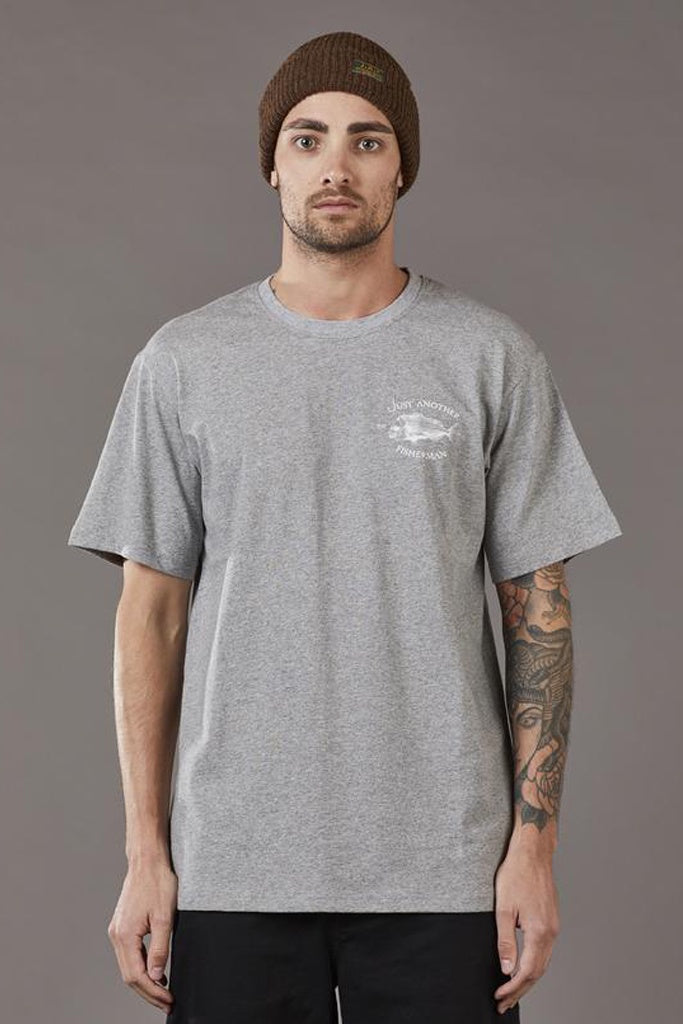 Just Another Fisherman Snapper Logo Tee Grey Marle
