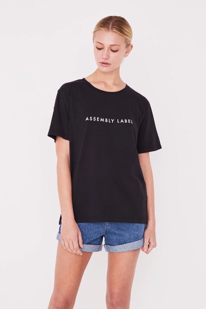 Assembly Logo Cotton Crew Tee Black