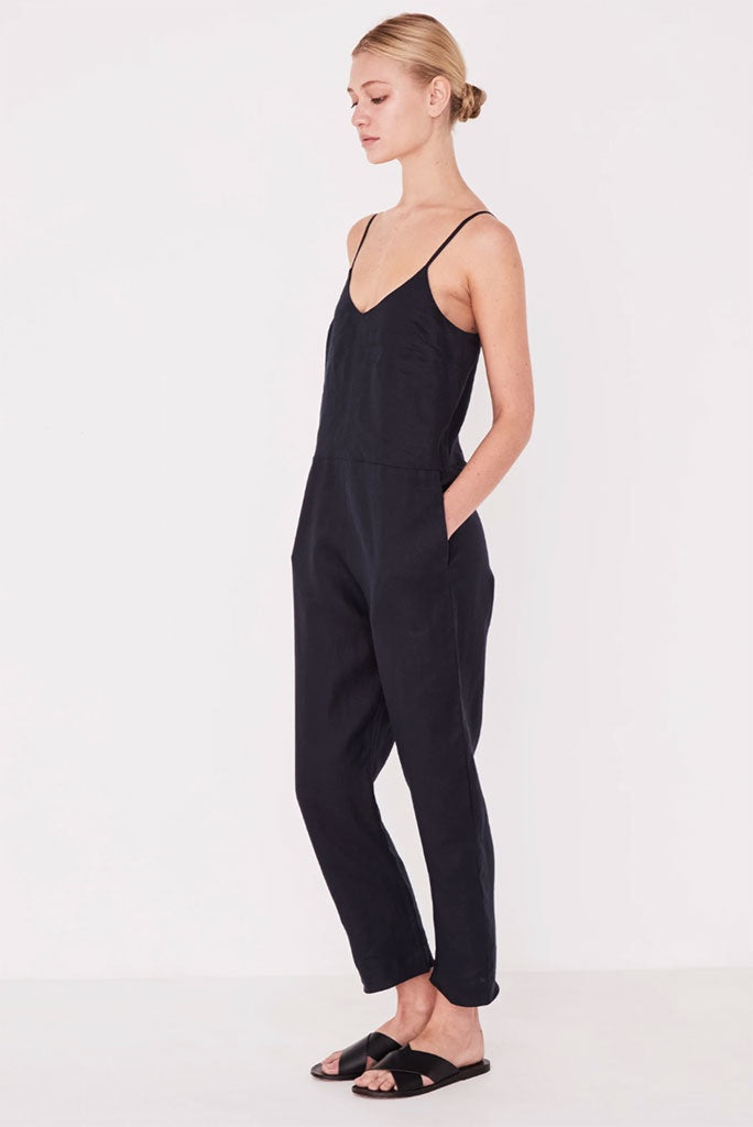 Assembly Linen Slip Jumpsuit Black