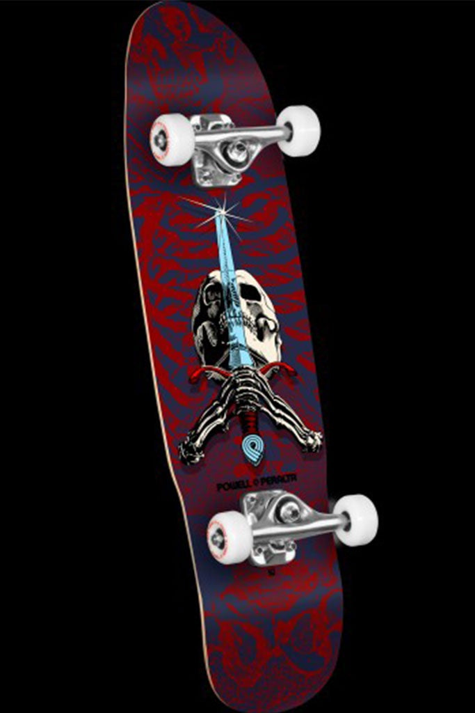 Powell Peralta Mini Skull & Sword White Complete 8''