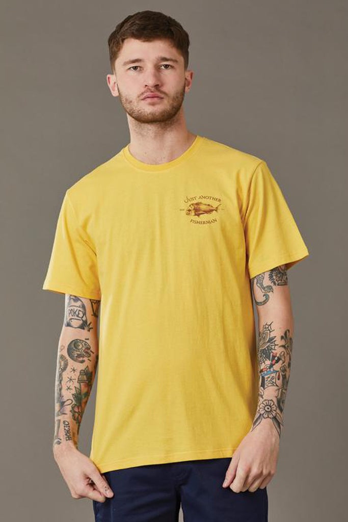 Just Another Fisherman Snapper Logo Tee Washed Yellow
