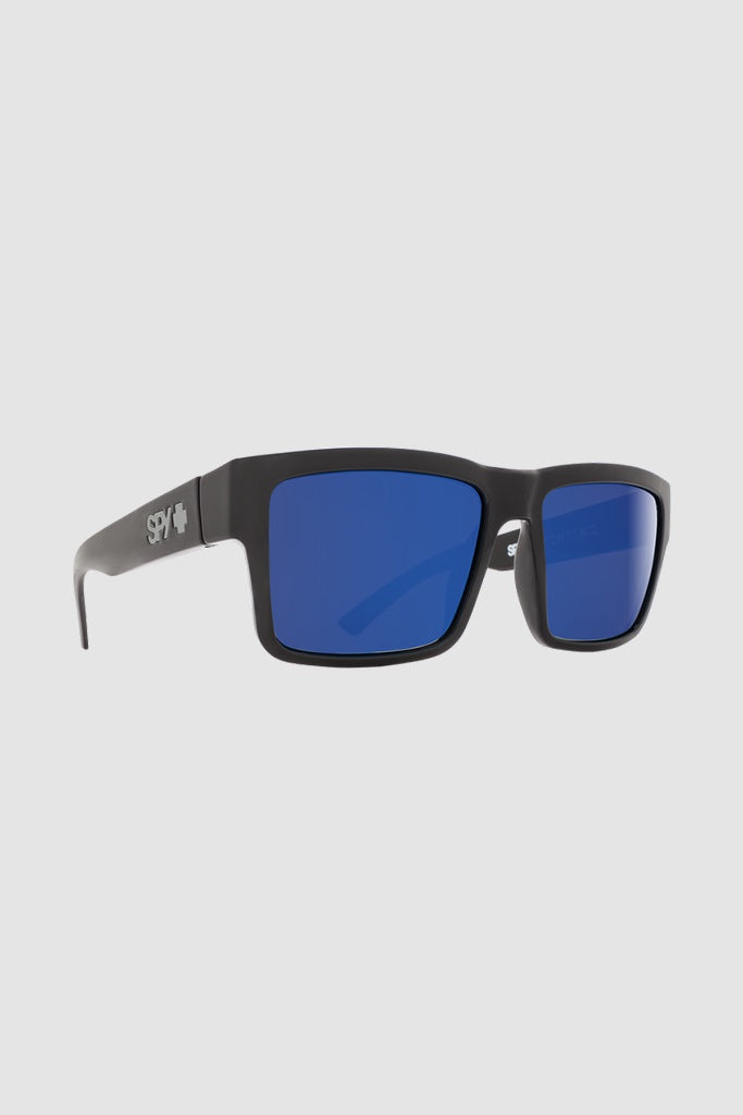 0fbe46866c5 Spy Montana Shiny Black Happy Grey Green w Dark Blue Spec Polarised