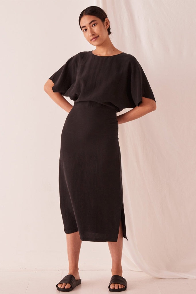 Assembly Ivy Kimono Sleeves Dress Black