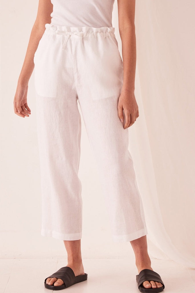 Assembly Ollie Linen Pant White