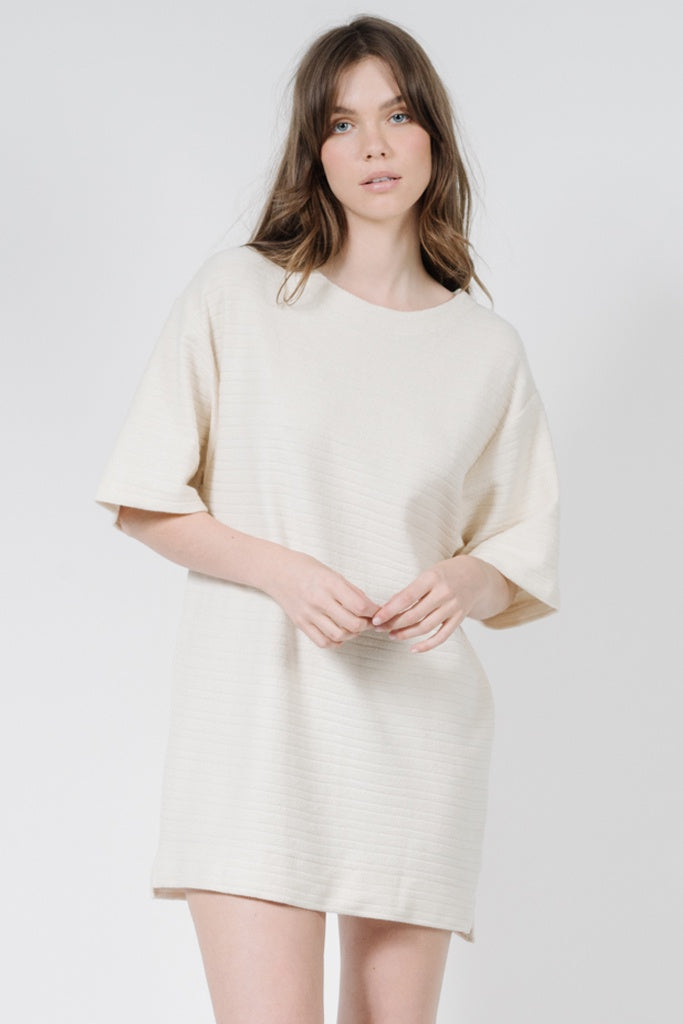 Thrills Terry Slouch Tee Dress Unbleached