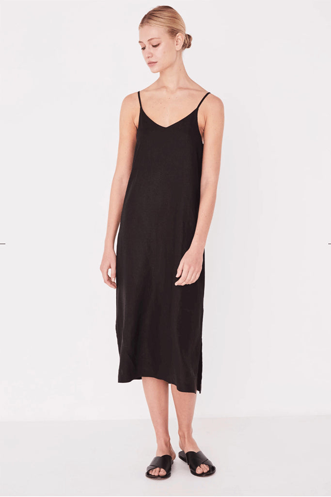 Assembly Linen Slip Dress Black