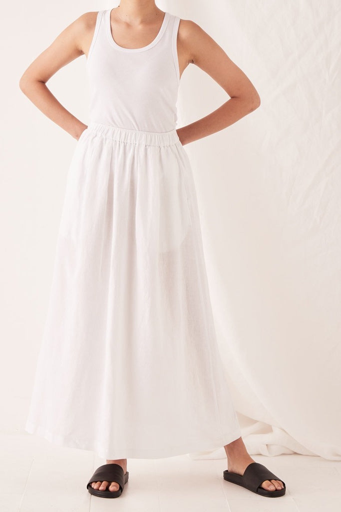 Assembly Noma Linen Skirt White