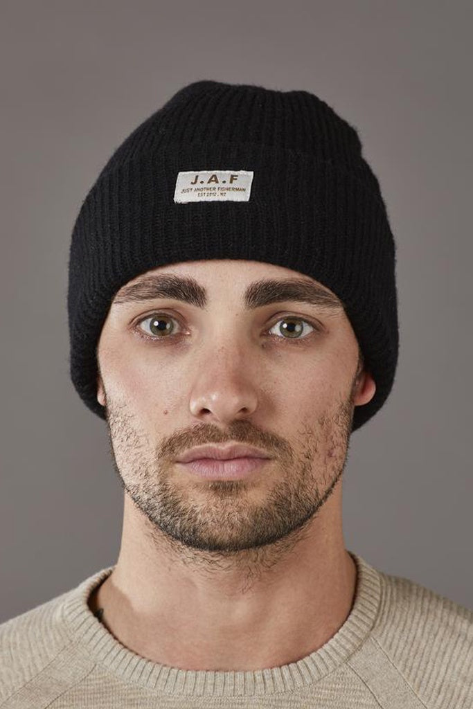 Just Another Fisherman Logo Beanie Black