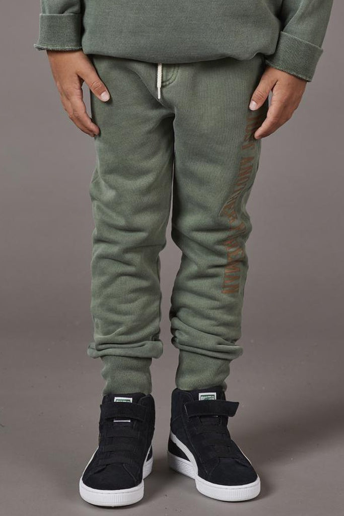 Just Another Fisherman Little Anglers Hook Trackpant Forest Green