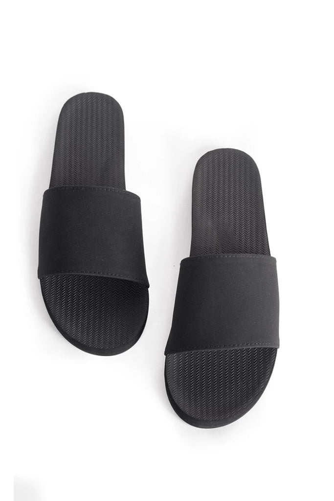 Indosole Womens Essentials Slide Black