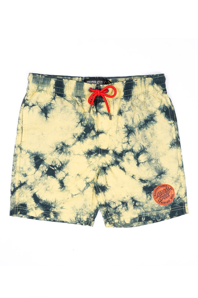 Santa Cruz Youth Original Dot Short Limelight Yellow Tie Dye