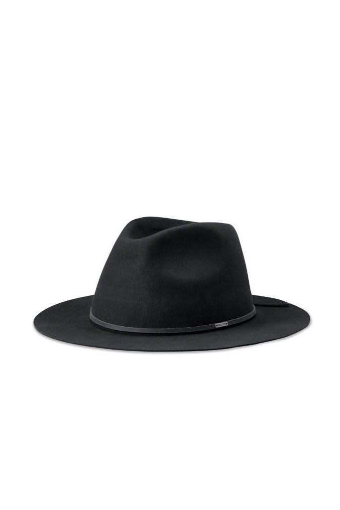 Brixton Wesley Packable Fedora Washed Black