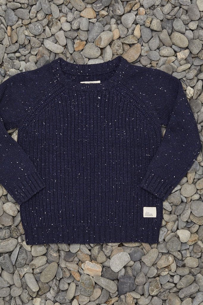 Just Another Fisherman Mini Rib Crew Navy Speckle
