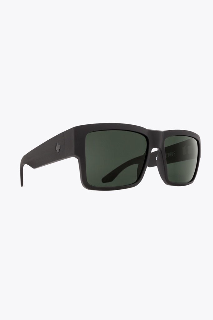 Spy Cyrus Soft Matte Black/Happy Grey Green Polarised
