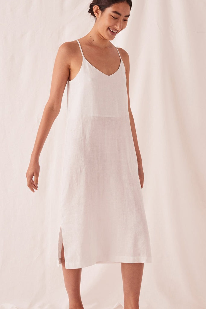 Assembly Linen Slip Dress Silver Grey