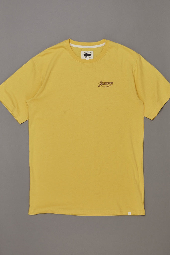 Just Another Fisherman Dinghy Tee Washed Yellow